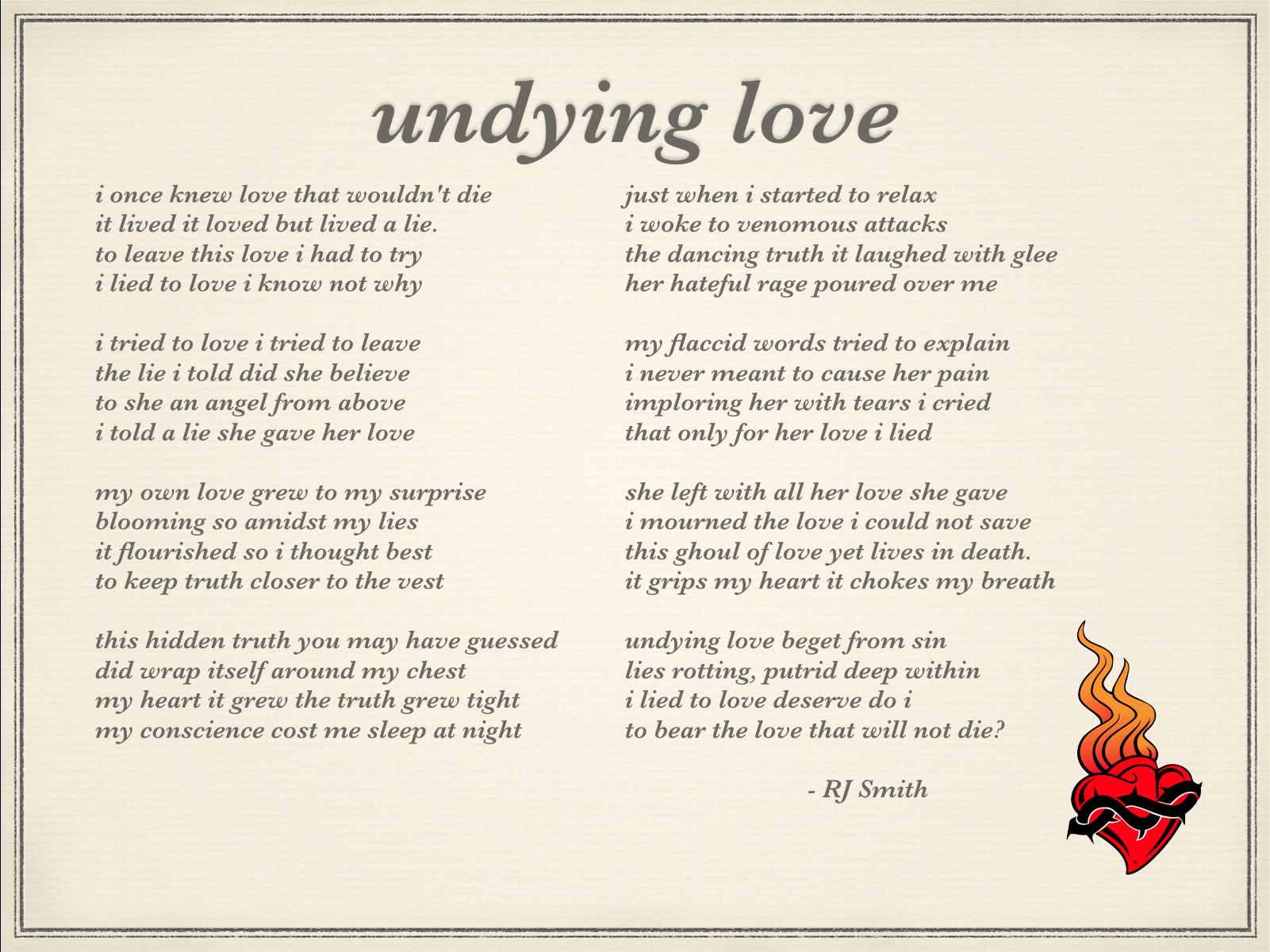 my undying love for you poem